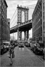Canvas print  Brooklyn with Manhattan Bridge - Robert Bolton
