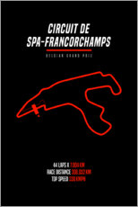 Canvas print  F1 Belgian Grand Prix (Circuit of Spa-Francorchamps) - Michael Tarassow