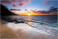 Canvas print  Sunset over the Na Pali coast - Russ Bishop
