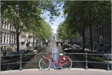 Acrylic print  Red bicycle, Amsterdam - Fraser Hall