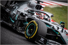 Canvas print  Lewis Hamilton, Japanese GP, 2019