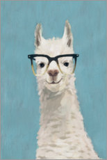 Wall sticker  Lama with glasses II - Victoria Borges