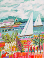 Wall sticker Two Sailboats and Cottage II