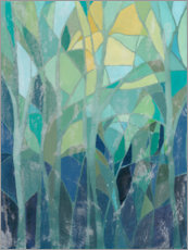 Acrylic print  Stained Glass Forest I - Grace Popp