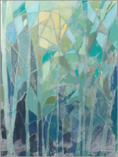 Acrylic print  Stained Glass Forest II - Grace Popp
