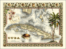 Canvas print  Tropical Map of Cuba - Vision Studio