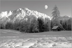 Acrylic print  Winter landscape with view of Wetterstein - Ludwig Mallaun