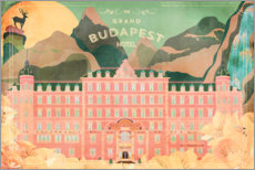 Foam board print  The Grand Budapest Hotel - Ella Tjader