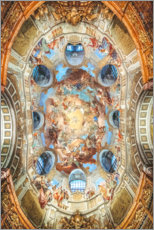 Acrylic print  Dome painting at the National Library Vienna - Sören Bartosch