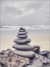 Premium poster  Stone tower on the beach - Andrea Haase Foto