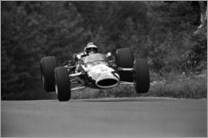 Canvas print  Jackie Oliver, Lotus 48 Ford, Nürburgring 1967