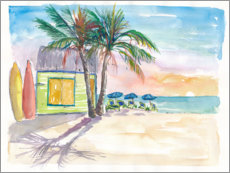 Canvas print  Surf bar on the beach in the Caribbean - M. Bleichner