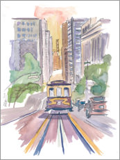Acrylic print  Cable car in San Francisco - M. Bleichner