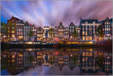 Acrylic print  Amsterdam at night - George Pachantouris