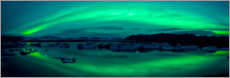 Canvas print  Aurora Borealis over the Jokulsarlon Lagoon
