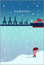 Canvas print  Hamburg in winter - Katinka Reinke