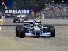 Canvas print  Michael Schumacher, Benetton B194 Ford, Adelaide, Australian GP 1994