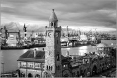 Acrylic print  Port of Hamburg and St. Pauli Landungsbrücken - Sascha Kilmer