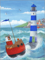 Acrylic print  Blue Lighthouse - Peter Adderley