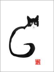 Gallery print  Cat silhouette - Péchane