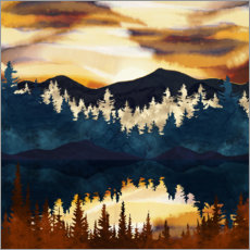 Canvas print  Autumnal sunset - SpaceFrog Designs