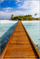 Acrylic print  Jetty to the island, Maldives - Matteo Colombo