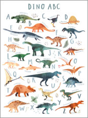 Premium poster Happy Dinosaur ABC
