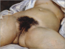 Wood print  The Origin of the World - Gustave Courbet