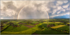 Wood print  Rainbow from above - Martin Podt