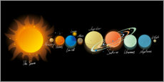 Canvas print  Our Solar System