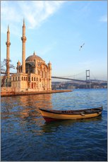 Wall sticker  Rowboat and Ortakoy Mosque - Ali Kabas