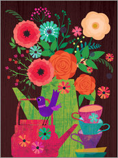 Gallery print  Flowers in the coffee pot - Elisandra Sevenstar