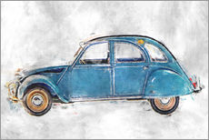 Wall sticker  Oldtimer - blue - LoRo-Art