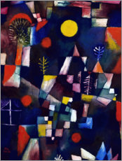 Canvas print  The full moon - Paul Klee