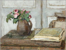 Wall sticker  Still life with the artist painting set and a vase with moss roses - Edouard Vuillard