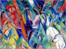 Premium poster  In the rain - Franz Marc