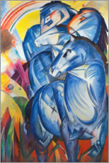 Premium poster  Tower of Blue Horses - Franz Marc