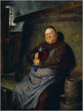 Wall sticker  Brother master brewer of beer in the cellar. In 1902. - Eduard Grützner