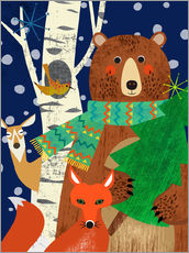 Wall sticker  Holidays in the woods - Elisandra Sevenstar