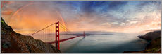 Wall sticker  San Francisco Golden Gate with rainbow - Michael Rucker