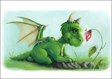 Wall sticker Dragon with a little fairy