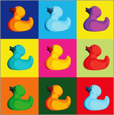 Wall sticker Pop art duck