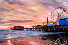Wall sticker  Santa Monica Pier at Sunset - M. Bleichner