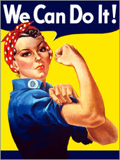 Gallery print  Rosie The Riveter, We can do it! - John Parrot