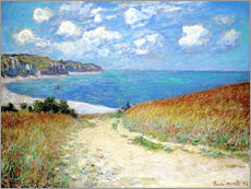 Gallery print  Path through the Wheat at Pourville - Claude Monet