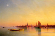 Premium poster  Sunset in the bay of Venice - Ivan Konstantinovich Aivazovsky