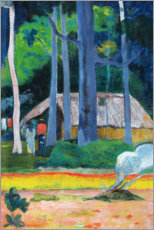 Foam board print  Hut in the Trees - Paul Gauguin