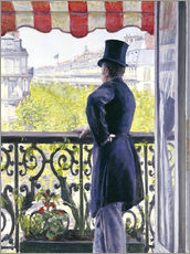 Wall sticker  Man on a balcony - Gustave Caillebotte