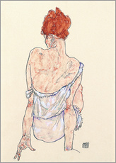 Gallery print  Female back - Egon Schiele