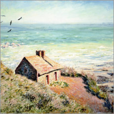 Foam board print  Fisherman's Hut, Varengeville - Claude Monet